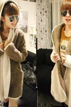 Fashion hooded both surfaces wear cardigan coat 1654870